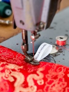 Photo showing a sewing machine with a Made in England label.