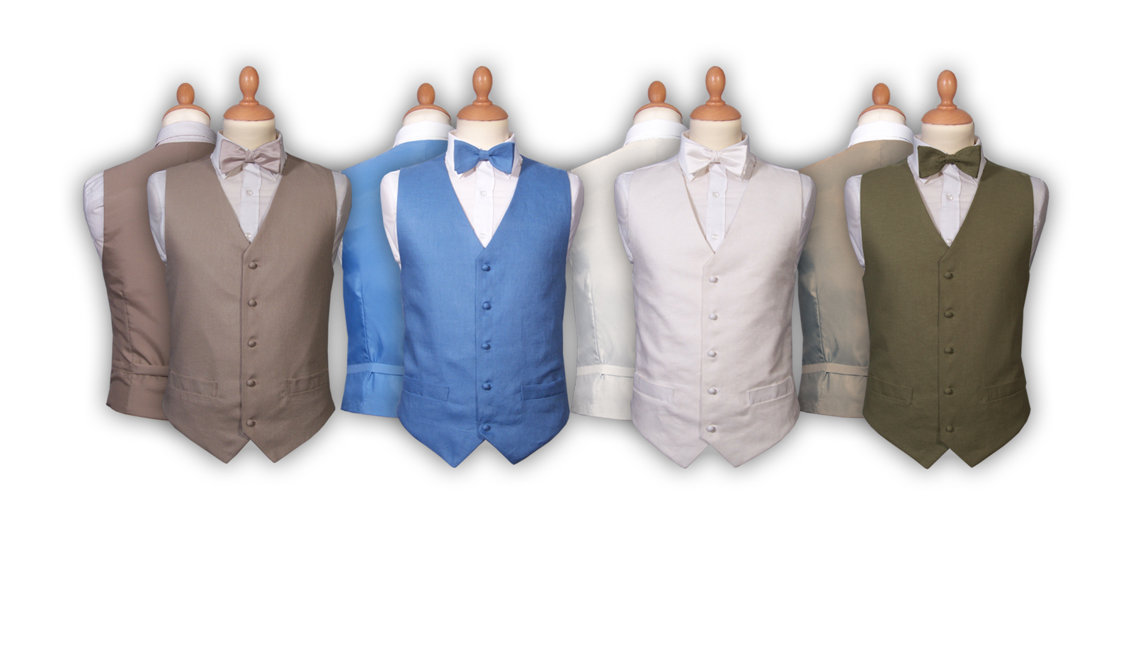 Four Linen waistcoats, in four different colours.