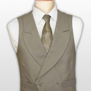 Mr Ascot in Linen, double breasted waistcoat